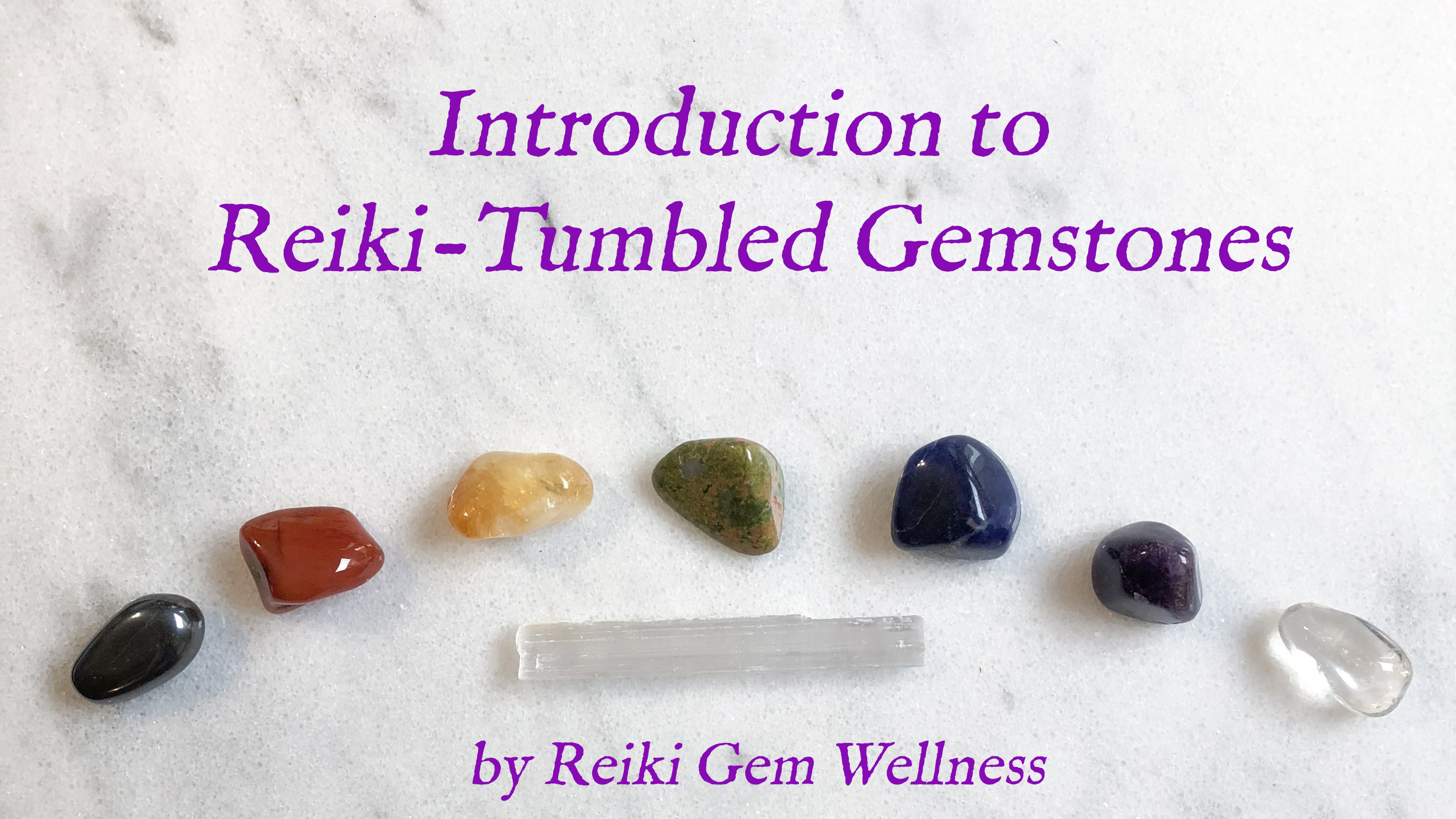reiki tumbled gemstones